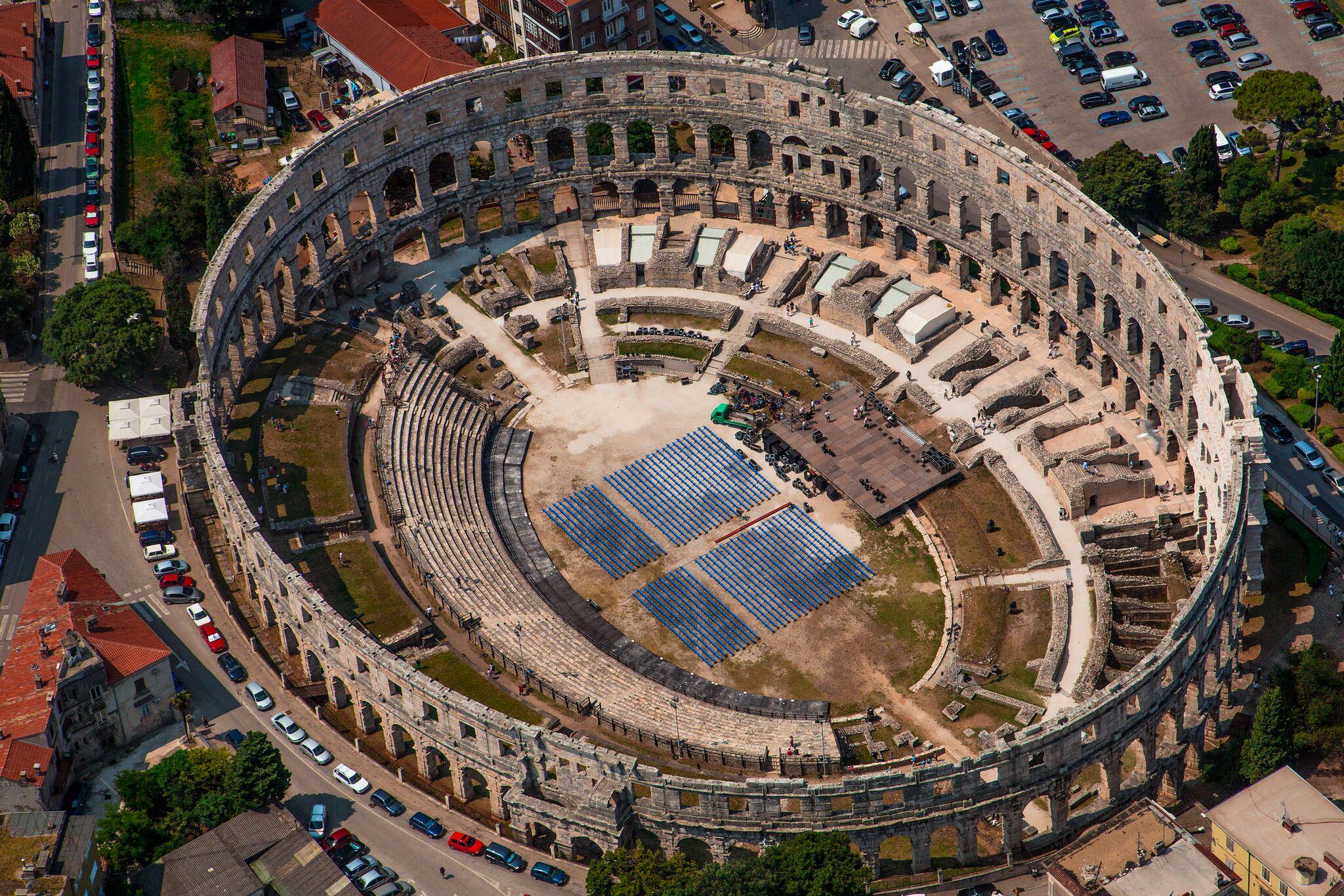 Beautiful Places in Croatia - Pula Arena